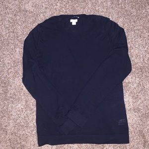 NWOT J Crew Teddie Sweater - Navy Blue